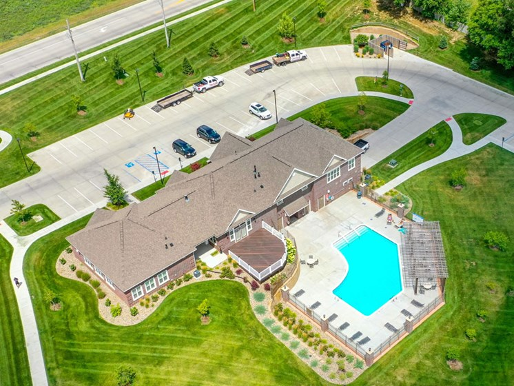 Green Aerial View at Andover Pointe Apartment Homes, Nebraska, 68138