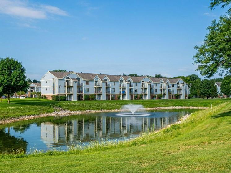 Breathtaking Lake View From Property at Arbor Lakes Apartments, Elkhart, Indiana