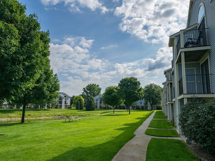 Lush Landscaping at Arbor Lakes Apartments, Elkhart, IN, 46516