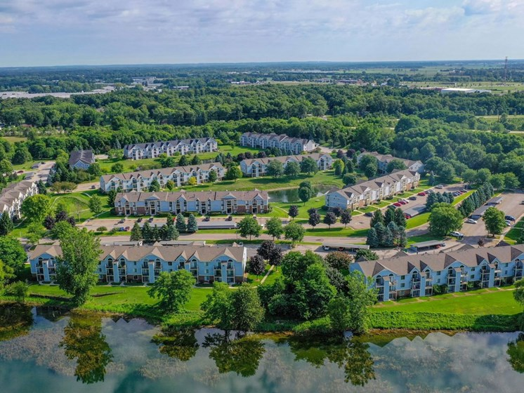 Aerial View Of The Community at Arbor Lakes Apartments, Elkhart, IN