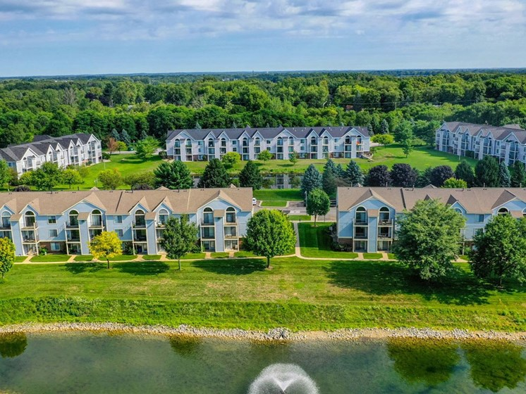Aerial Exterior View at Arbor Lakes Apartments, Elkhart, Indiana