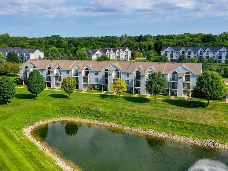 Elegant Exterior View Of Community at Arbor Lakes Apartments, Elkhart, IN