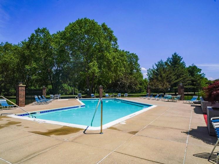 Glimmering Pool at Byron Lakes Apartments, Byron Center, Michigan