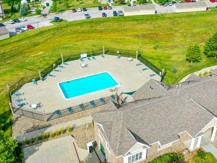 Aerial View at Colonial Pointe at Fairview Apartments, Nebraska, 68123