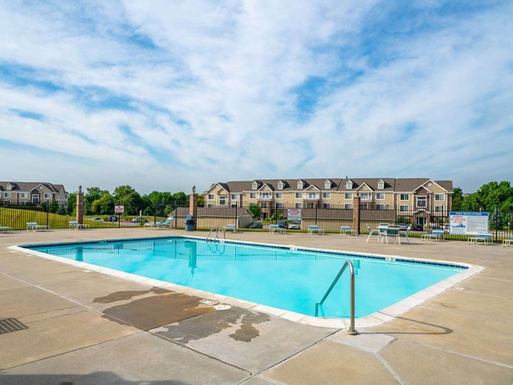 Relaxing Pool at Colonial Pointe at Fairview Apartments, Bellevue, Nebraska
