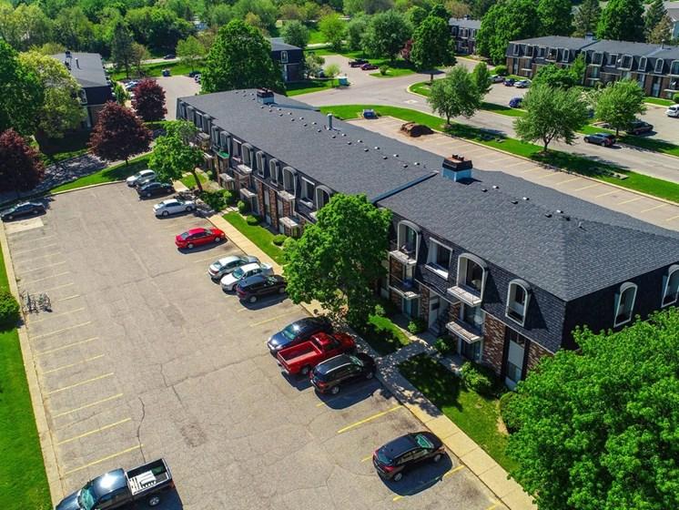 Aerial Exterior View at Concord Place Apartments, Kalamazoo, 49009