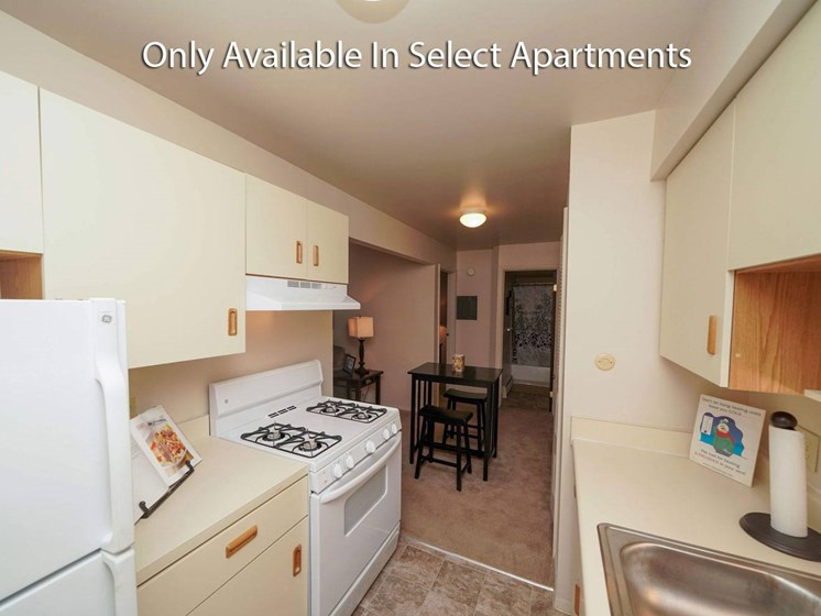 Washer And Dryer In Unit at Fairlane Apartments, Springfield, MI, 49037