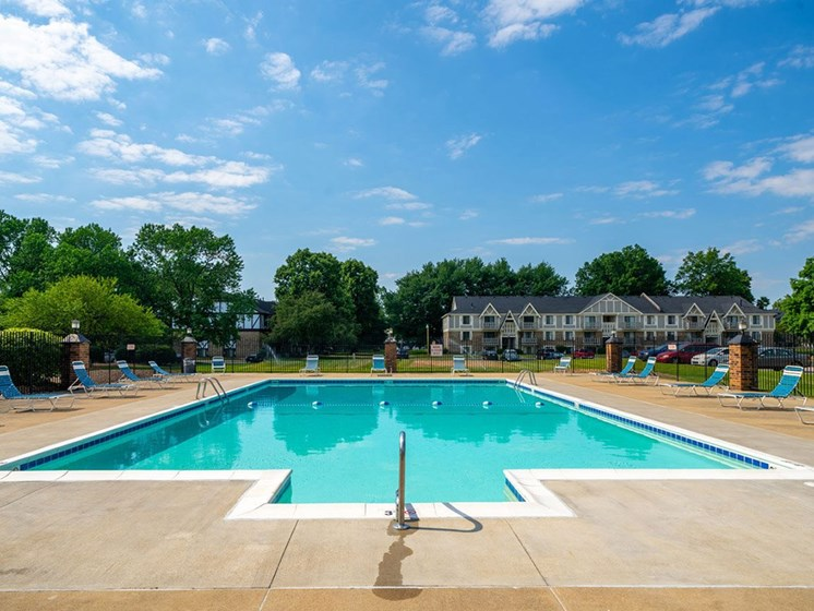 Glimmering Pool at Hickory Village Apartments, Mishawaka, IN, 46545