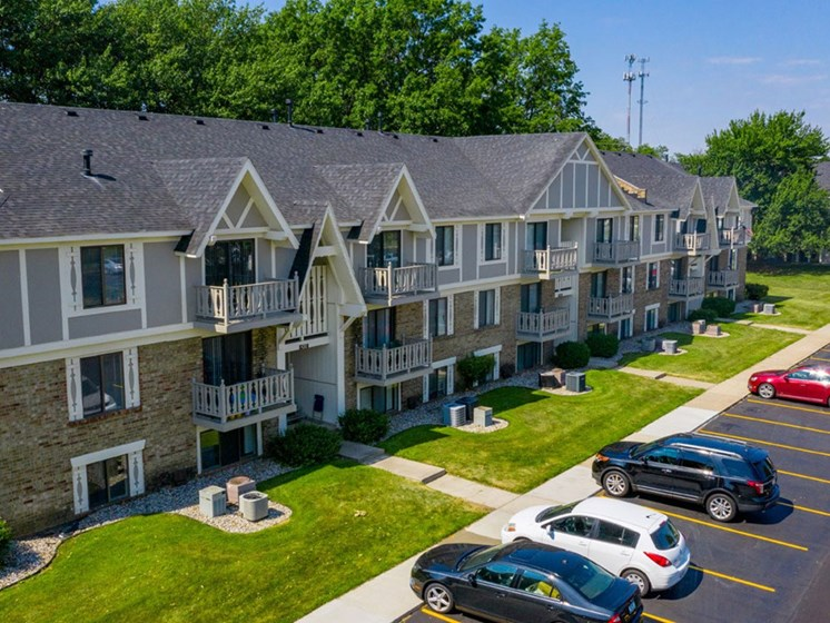 Aerial View Of The Property at Hickory Village Apartments, Indiana, 46545