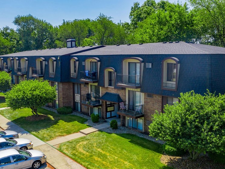 Aerial Exterior View at Hickory Village Apartments, Indiana