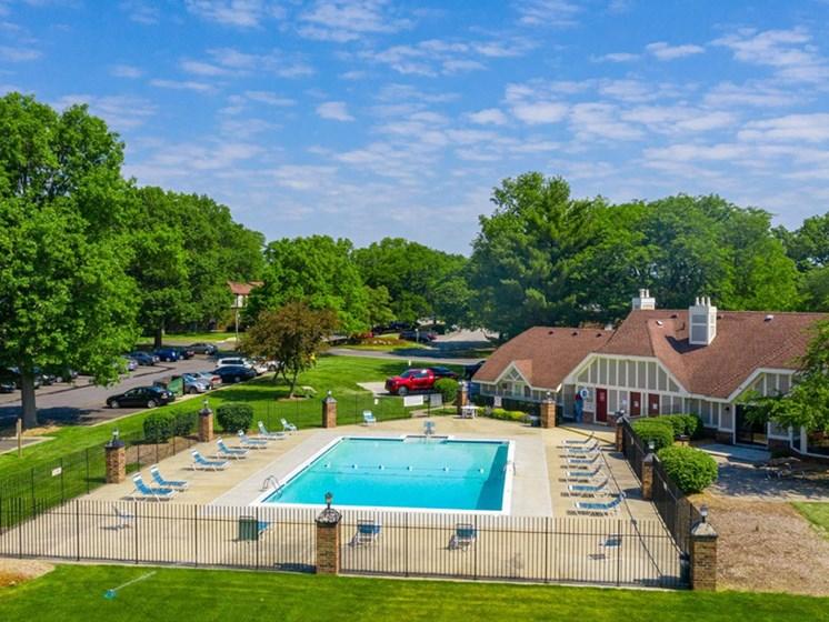 Glimmering Pool View at Hickory Village Apartments, Mishawaka, 46545