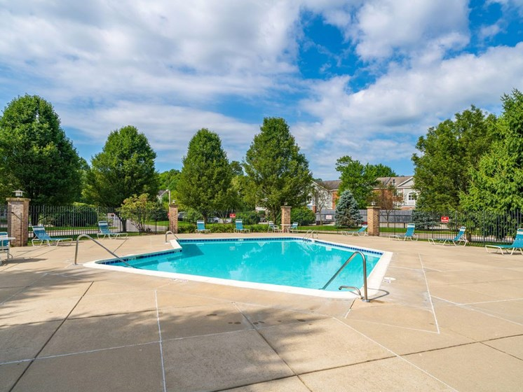 Outdoor Swimming Pool at The Highlands Apartments, Elkhart, IN