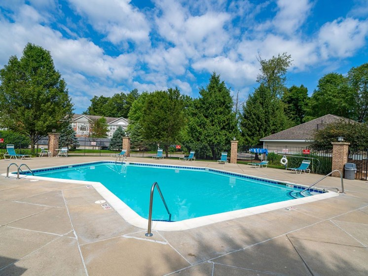 Invigorating Swimming Pool at The Highlands Apartments, Indiana, 46514