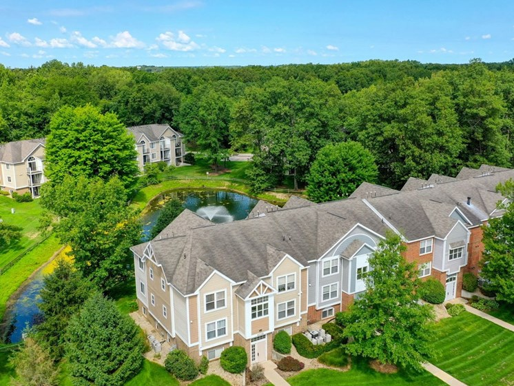 Aerial View Of The Property at The Highlands Apartments, Elkhart, IN