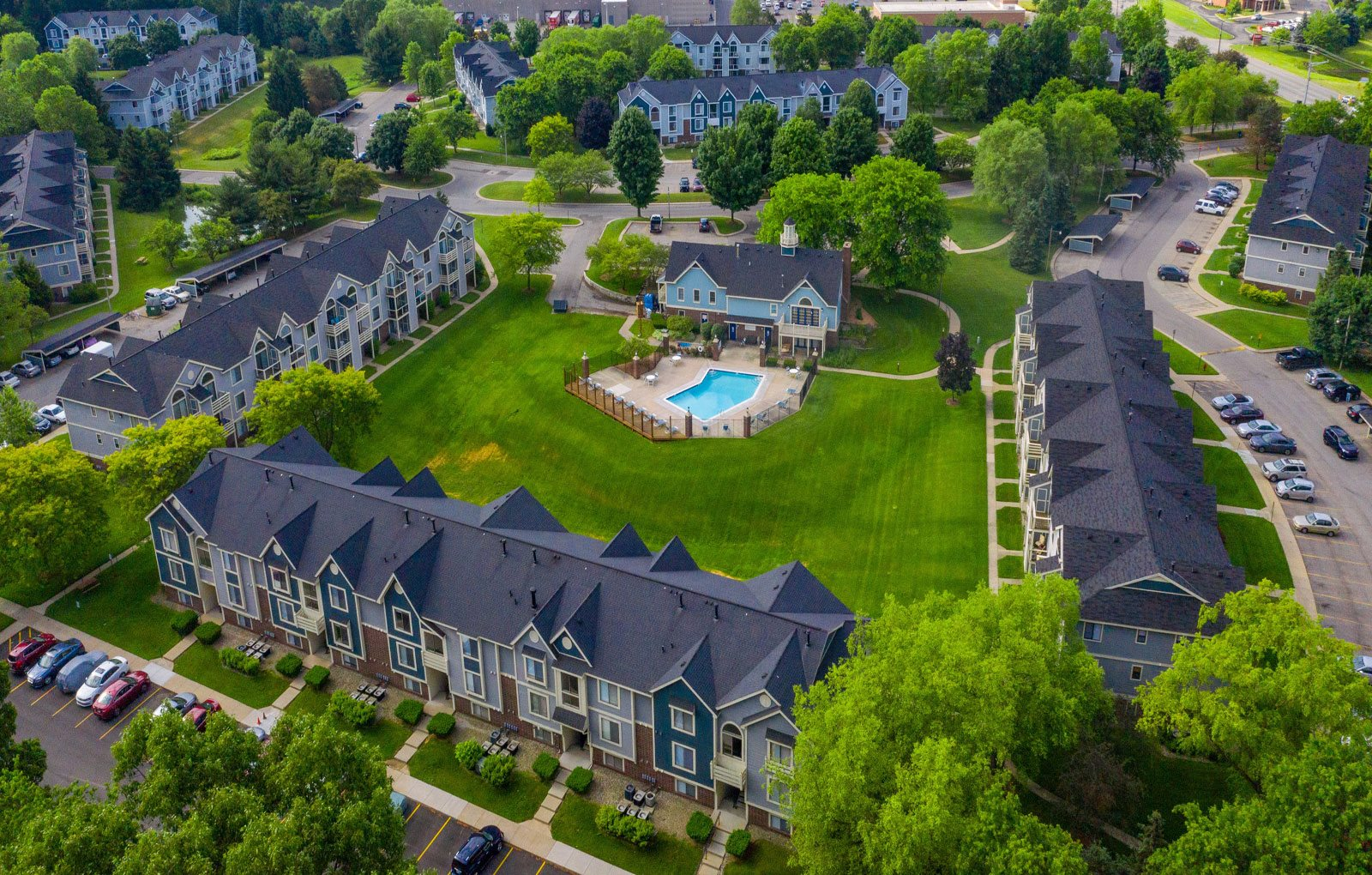 Aerial View Of The Property at Hurwich Farms Apartments, South Bend, Indiana