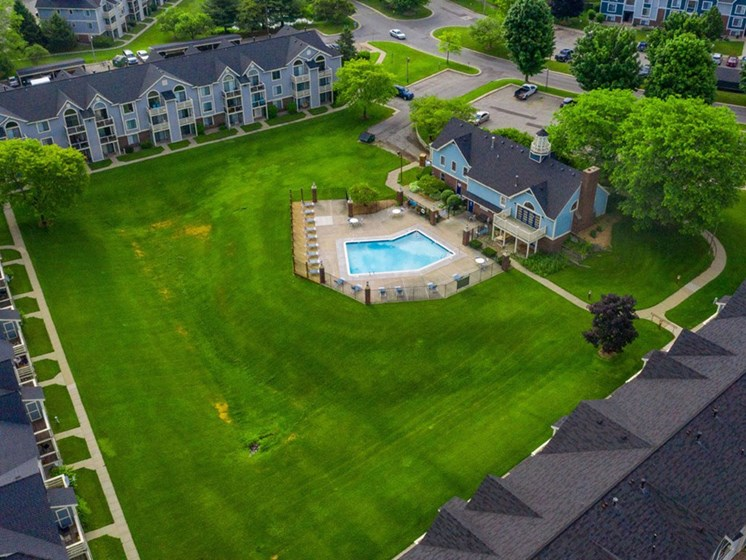 Aerial View Of The Community at Hurwich Farms Apartments, Indiana, 46628