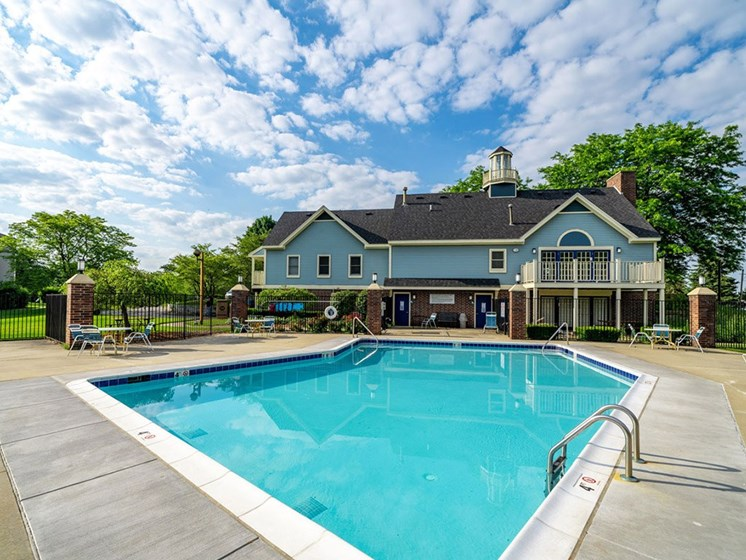 Invigorating Swimming Pool at Hurwich Farms Apartments, South Bend, Indiana