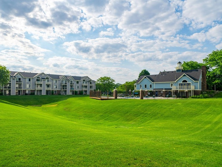 Lush Green Outdoor Spaces at Hurwich Farms Apartments, Indiana, 46628