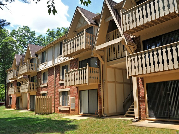 Private Balconies at Laurel Woods Apartments, Greenville, SC, 29607