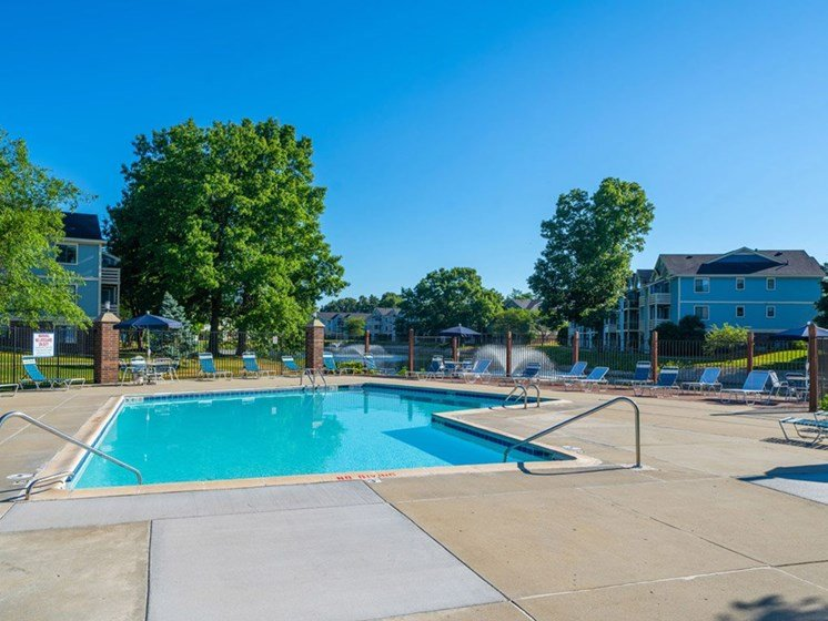 Outdoor Swimming Pool at North Pointe Apartments, Indiana