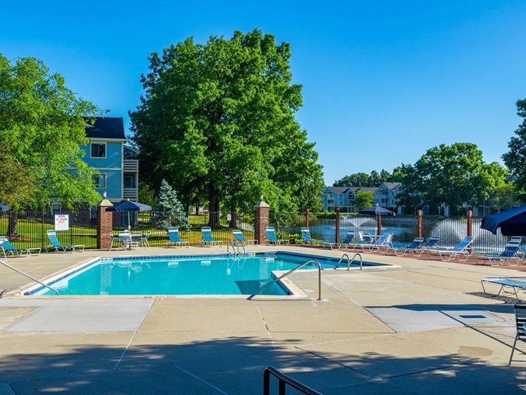 Relaxing Swimming Pool With Sundeck at North Pointe Apartments, Elkhart, IN