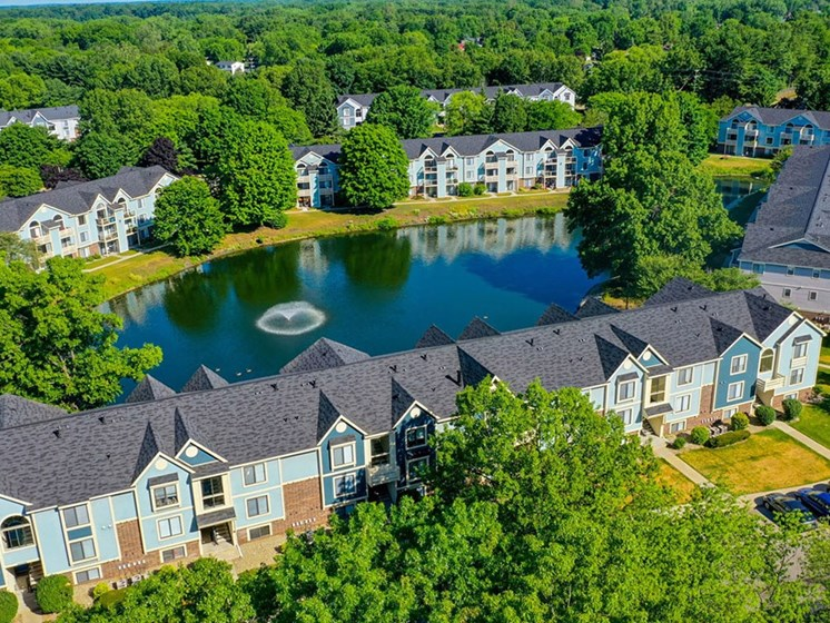 Community Aerial View at North Pointe Apartments, Indiana