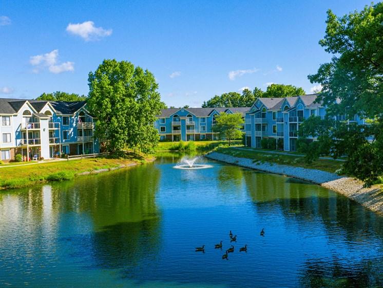 Beautiful Lake-View at North Pointe Apartments, Elkhart, 46514