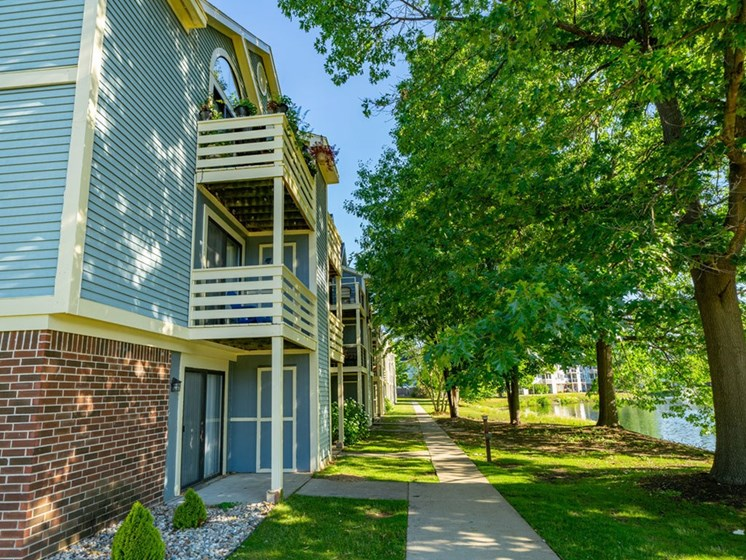 Balcony/Patio Community View at North Pointe Apartments, Elkhart, Indiana
