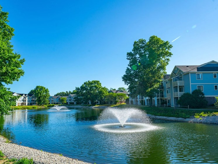 Lake side Community View at North Pointe Apartments, Elkhart, 46514