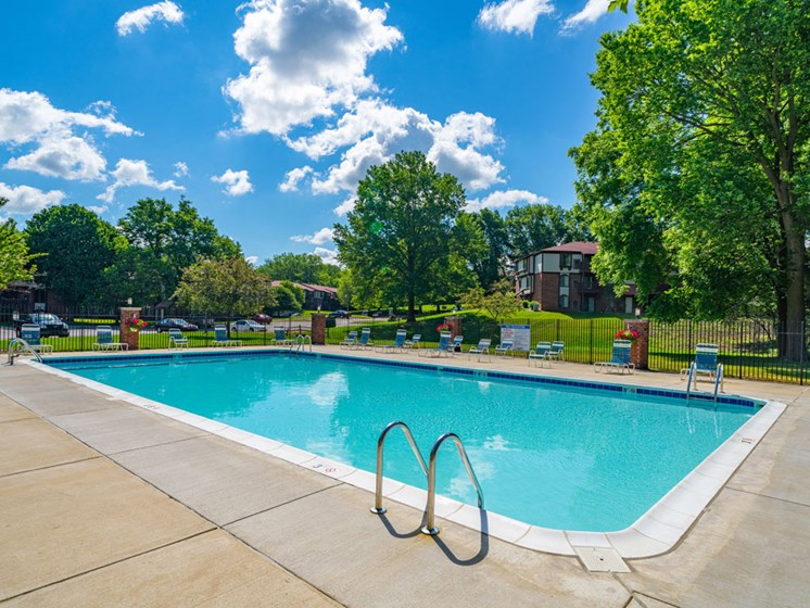 Outdoor Swimming Pool at Old Farm Apartments, Indiana