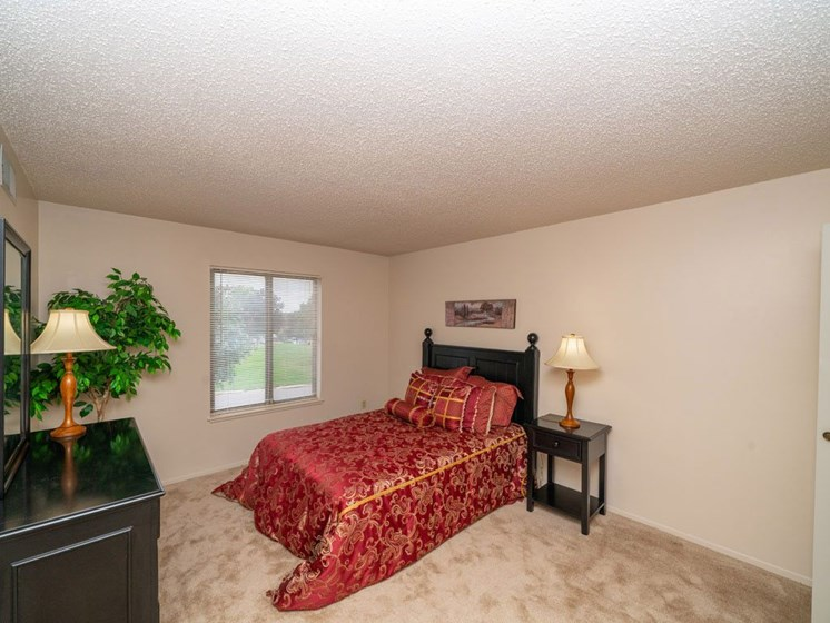 Beautiful Bright Bedroom With Wide Windows at Seville Apartments, Michigan, 49009