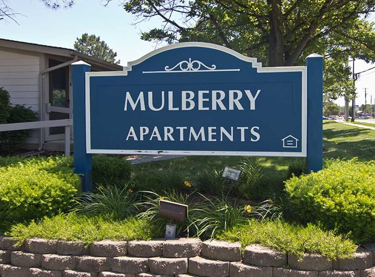 Mulberry Apartments monument sign