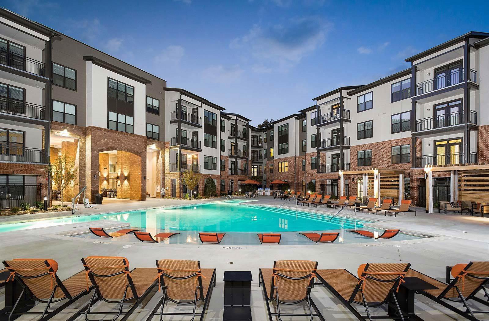 Pool Side Relaxing Area, at The Kirkwood, Atlanta, GA 30317