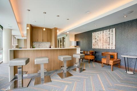 Clubroom seating area