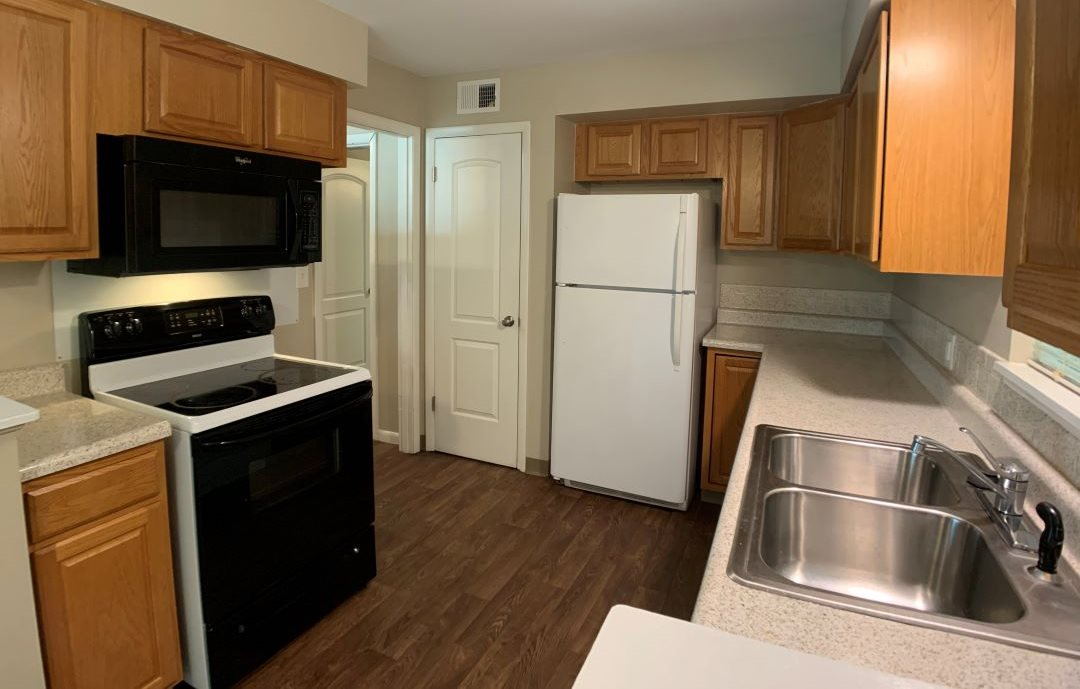 kitchen with cabinets and appliances