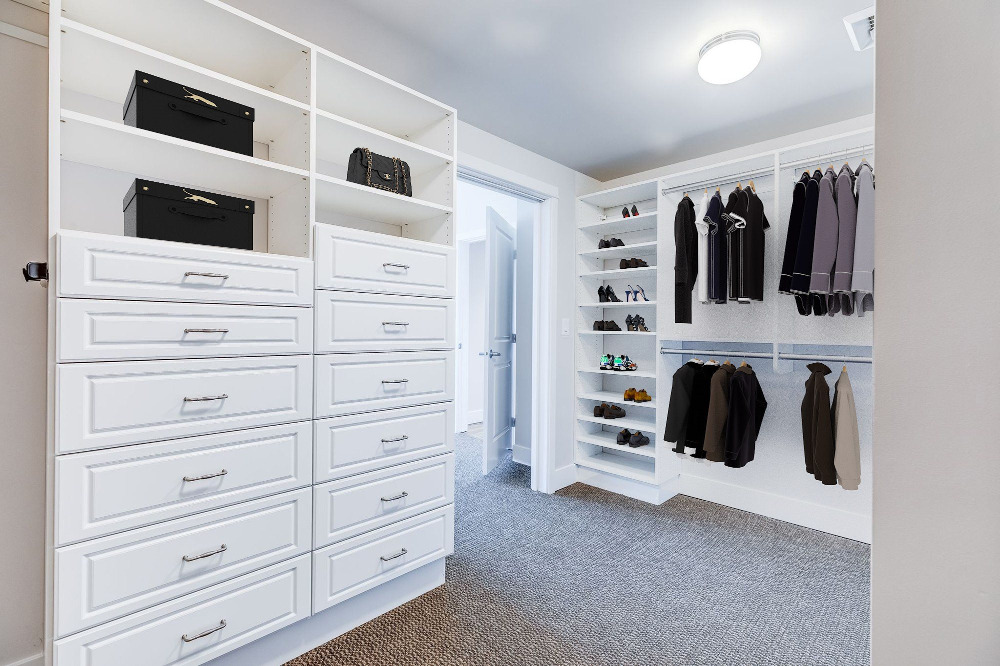The Mercer Penthouse Model Walk-In Closet