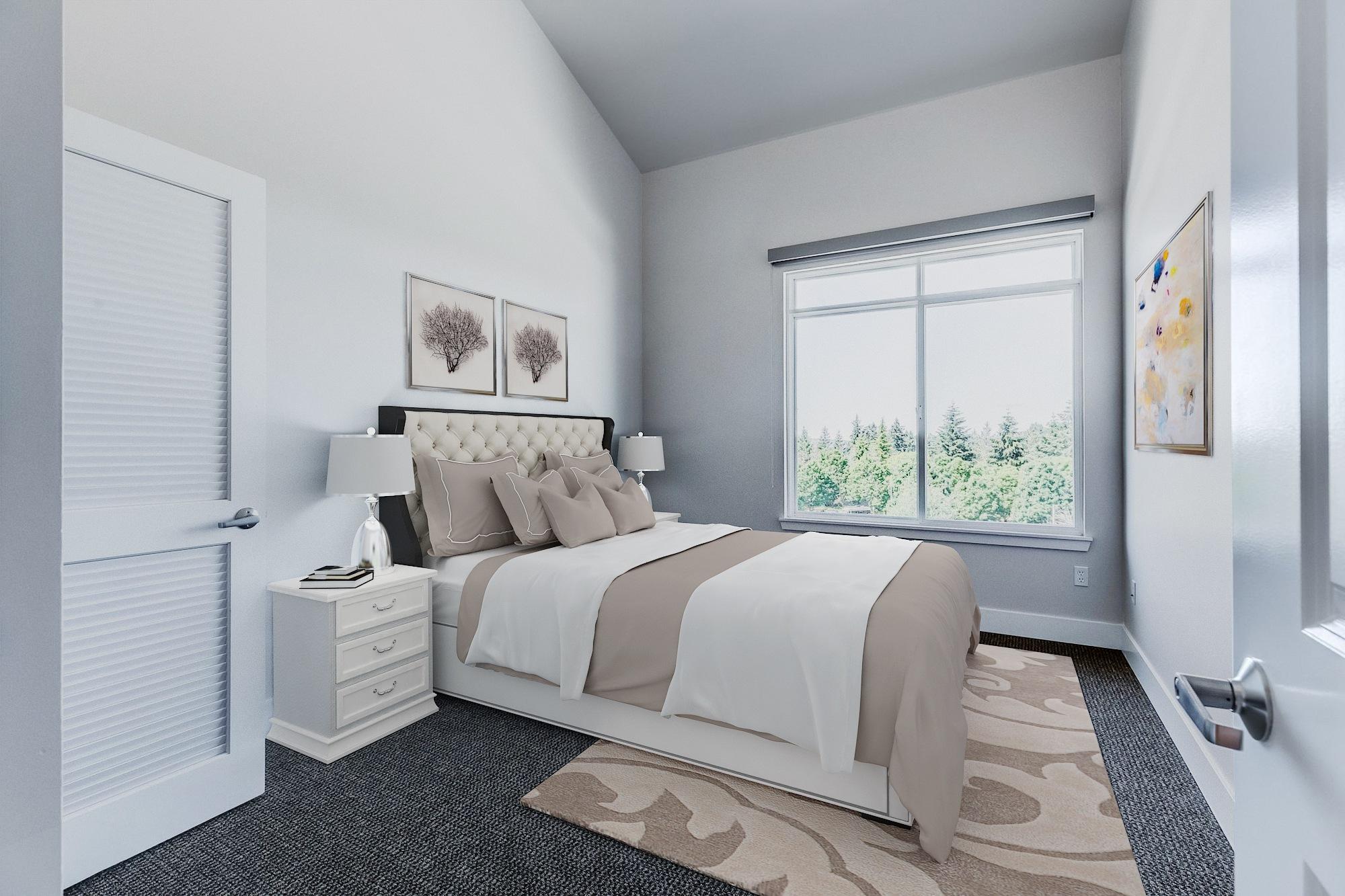 The Mercer Penthouse Model Bedroom
