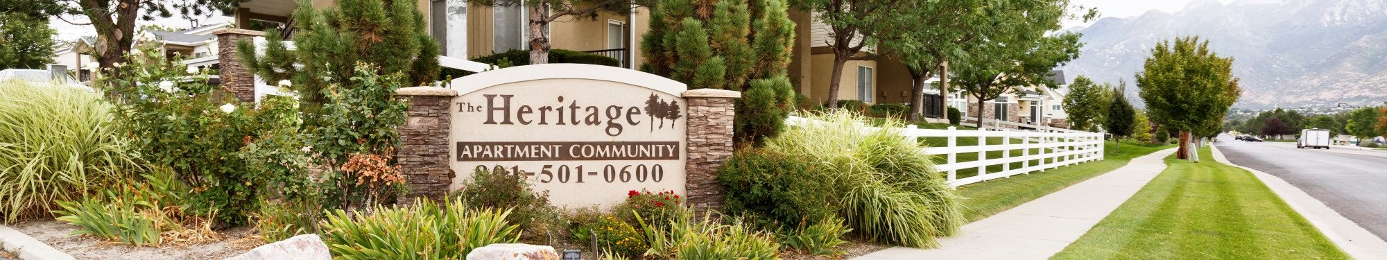 The Heritage Apartment Community Exterior Monument Sign