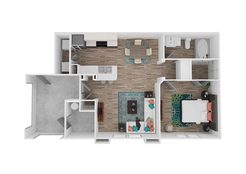 Zone Luxe Apartments Energy Floor Plan