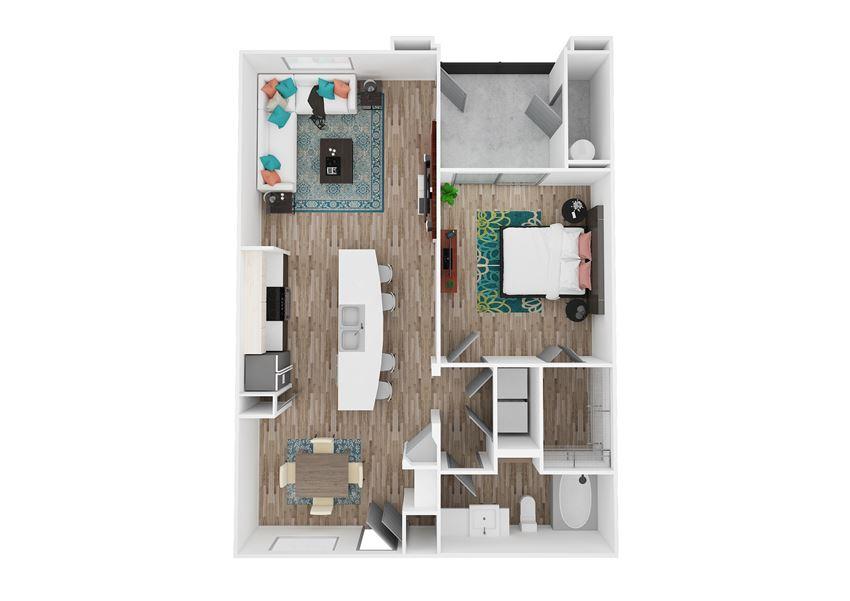 Zone Luxe Apartments Zen Floor Plan