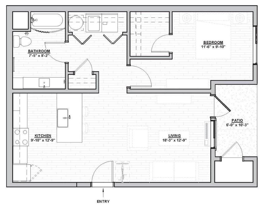 Outpost 44 Apartments Hagen Floor Plan