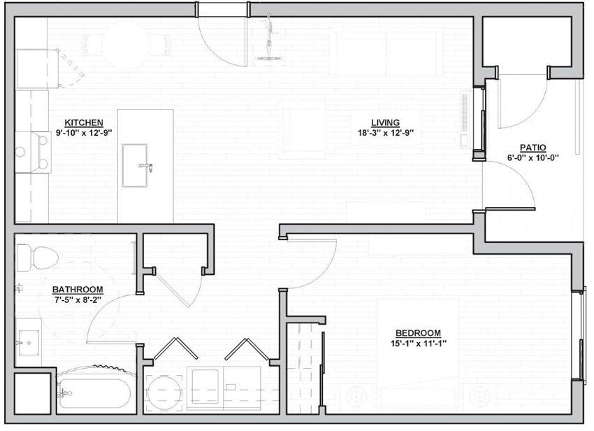 Outpost 44 Apartments Larson Floor Plan