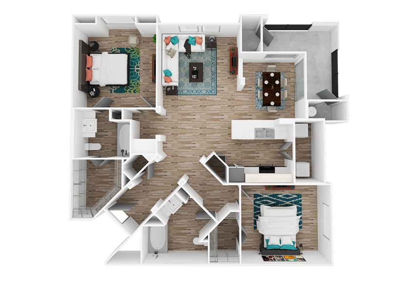 Zone Luxe Apartments Force Floor Plan