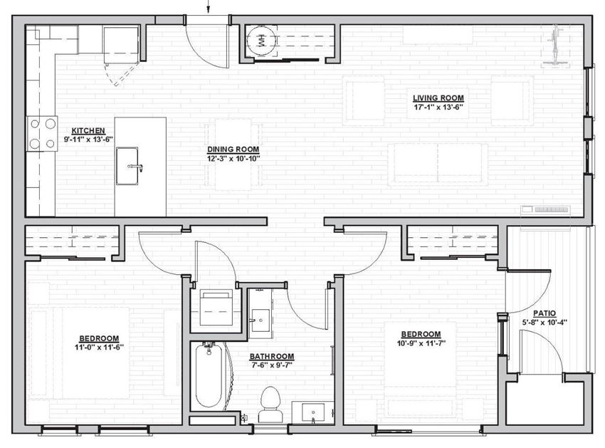 Outpost 44 Apartments Gillis Floor Plan