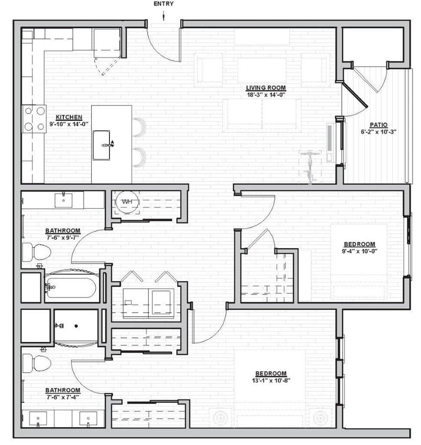 Outpost 44 Apartments Lafferty Floor Plan