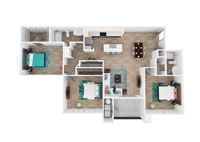 Zone Luxe Apartments Power Floor Plan