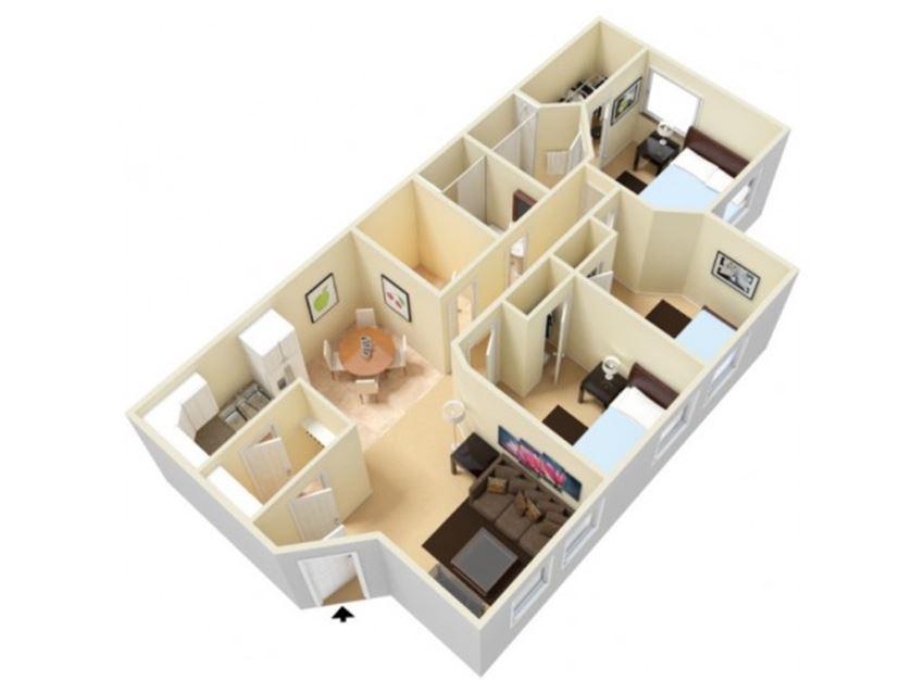 Mayflower Harbor 3 bedroom floor plan image