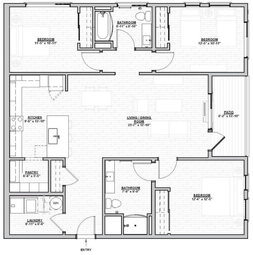 Outpost 44 Apartments Nordeen Floor Plan