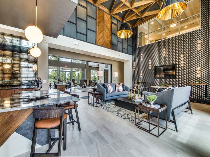 Aura Riverside resident lounge and seating area
