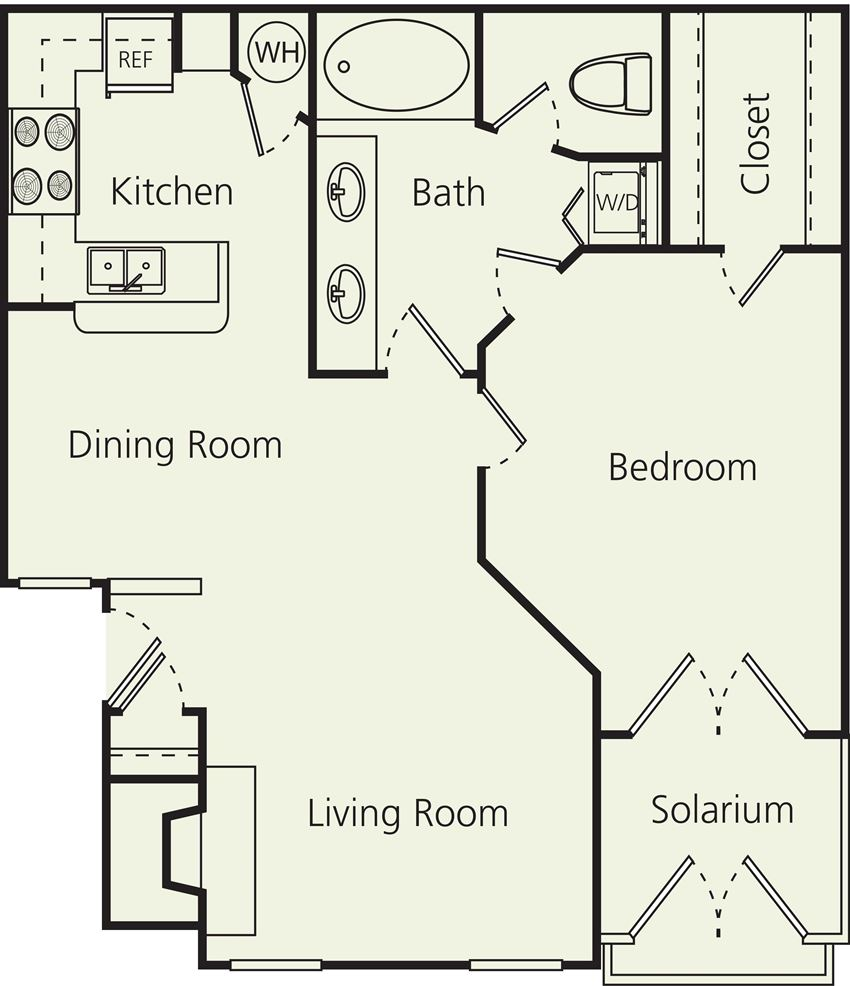 The Carlton Apartments BS Floor Plan